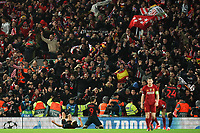 Football - 2019 / 2020 UEFA Champions League - Round of Sixteen, Second Leg: Liverpool (0) vs. Atletico Madrid (1)<br /> <br /> Álvaro Morata of Atletico Madrid celebrates scoring his sides winning goal, at Anfield.<br /> <br /> <br /> COLORSPORT/TERRY DONNELLY