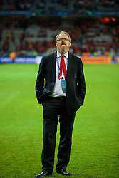 LILLE, FRANCE - Friday, July 1, 2016: Wales' head of international affairs Mark Evans after a 3-1 victory over Belgium and reaching the Semi-Final during the UEFA Euro 2016 Championship Quarter-Final match at the Stade Pierre Mauroy. Hal Robson-Kanu, David Cotterill, Jonathan Williams. (Pic by David Rawcliffe/Propaganda)