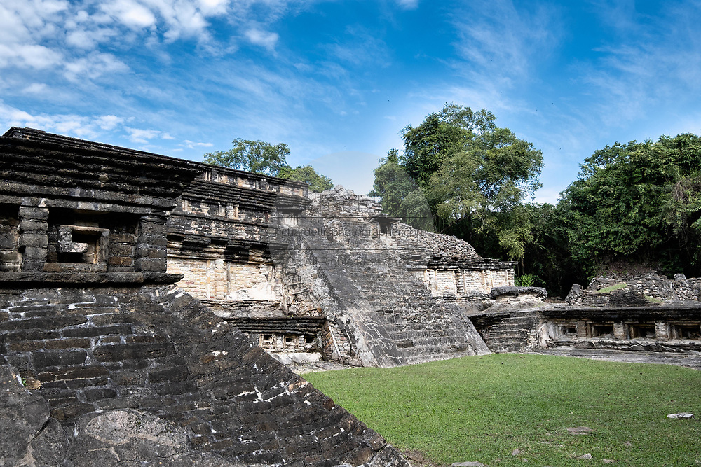 Mesoamerica residents called the Tajin Chico at the pre-Columbian archeological complex of El Tajin in Tajin, Veracruz, Mexico. El Tajín flourished from 600 to 1200 CE and during this time numerous temples, palaces, ballcourts, and pyramids were built by the Totonac people and is one of the largest and most important cities of the Classic era of Mesoamerica.
