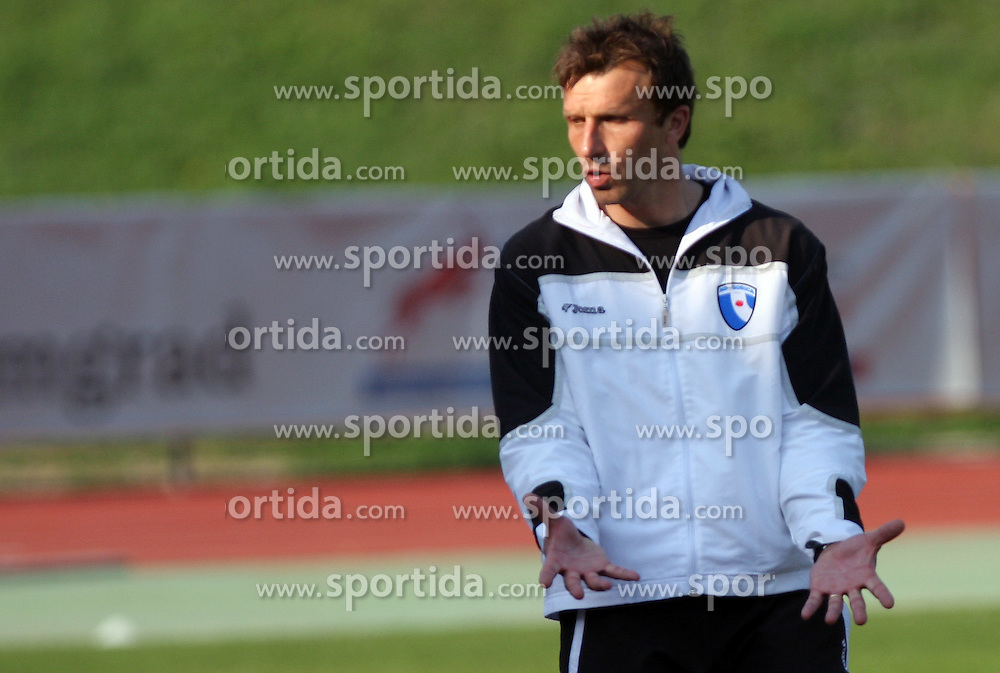 Coach of Gorica Miran Srebrnic at 28th Round of Slovenian First League football match between NK Interblock and ND Hit Gorica ZAK Stadium, on April 11, 2009, in Ljubljana, Slovenia. (Photo by Vid Ponikvar / Sportida)