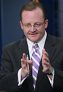 White House Press Secretary Robert Gibbs answers a reporter's question about Pastor Terry Jones intent to burn a Koran.  Photo by Dennis Brack