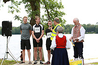 2019-07-20 | Hensmåla, Sweden:Tingsrydskommun : Winners of teamclass at Hensmåla Triathlon Tingsrydskommun ( Photo by: Eva-Lena Ramberg )<br /> <br /> Keywords: Tingsrydskommun, Hensmåla, Triathlon, Hensmåla Triathlon, Triathlon, Hensmåla