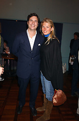 TOM & DAVINA BARBER she was Davina Duckworth-Chad, a friend of Prince William's at a party to celebrate the publication of 'E is for Eating' by Tom Parker Bowles held at Kensington Place, 201 Kensington Church Street, London W8 on 3rd November 2004.<br /><br />NON EXCLUSIVE - WORLD RIGHTS