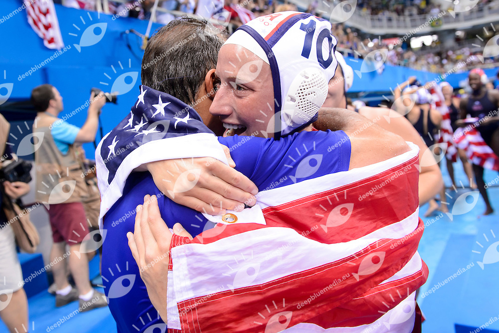 Celebration USA Gold Medal <br /> KRIKORIAN Adam <br /> Rio de Janeiro 19-08-2016 Olympic Aquatics Stadium  - Water Polo <br /> USA - ITALY Final <br /> Foto Andrea Staccioli/Deepbluemedia/Insidefoto