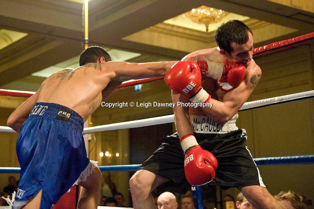 Wayne Alwan-Arab defeats Kevin McCauley at London's Millennium Hotel, Mayfair, 28th January 2010 - Mayfair Sporting Club (Mickey Helliet) Credit: © Leigh Dawney Photography