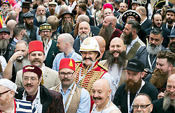 People attend the fourth British Beard and Moustache Championships at the Empress Ballroom, Winter Gardens, Blackpool.