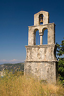Old stone belltower in Exogi, Ithaca, The Ionian Islands, Greece
