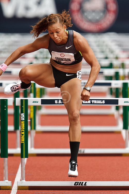 Olympic Trials Eugene 2012: Heptathlon, Hyleas Fountain, overall winner, 100 meter hurdles
