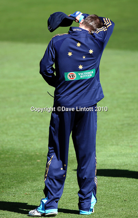 Michael Clarke.<br /> Australian cricket training at Allied Prime Basin Reserve, Wellington. Tuesday, 16 March 2010. Photo: Dave Lintott/PHOTOSPORT