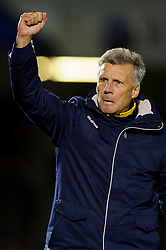 Bristol Rovers Manager John Ward (ENG) celebrates his sides victory during the match - Photo mandatory by-line: Rogan Thomson/JMP - Tel: Mobile: 07966 386802 - 21/12/2013 - SPORT - FOOTBALL - Memorial Stadium, Bristol - Bristol Rovers v Portsmouth - Sky Bet League Two.