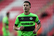 Forest Green Rovers Lloyd James(4) during the EFL Sky Bet League 2 match between Exeter City and Forest Green Rovers at St James' Park, Exeter, England on 27 October 2018.
