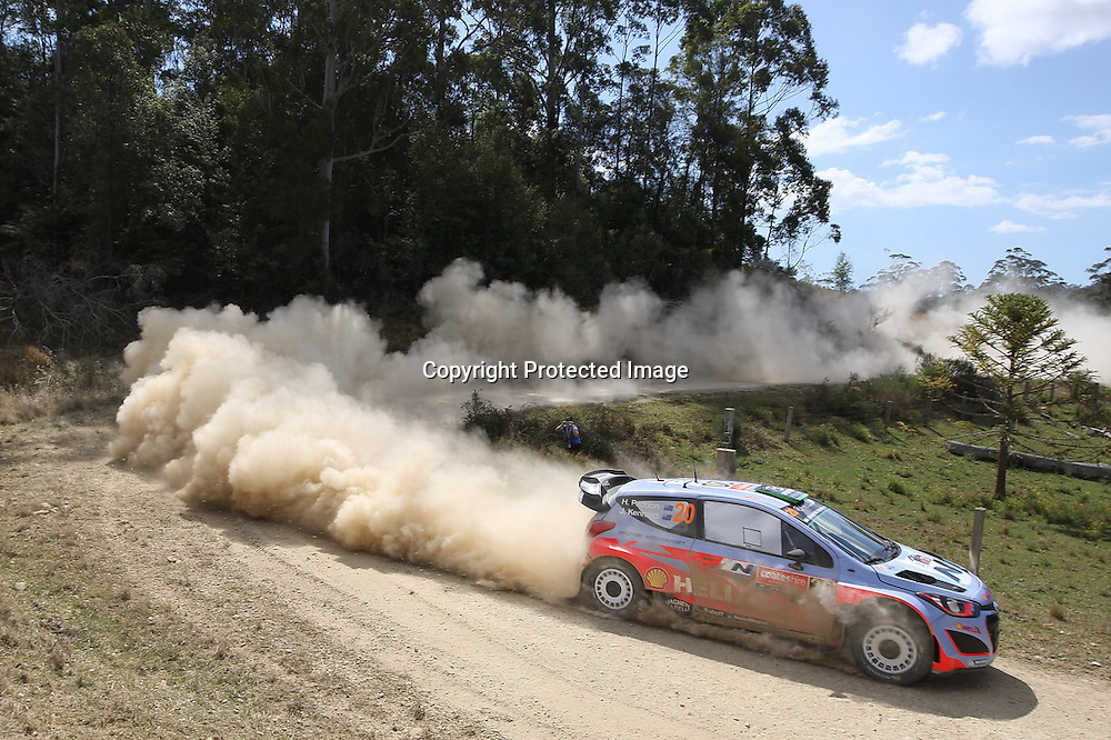 Hayden Paddon (NZL) during Special Stage 18, Rally Australia - Round 10 of the FIA World Rally Championship, Day 3, 14 September 2014. Photo: Alan McDonald/www.photosport.co.nz