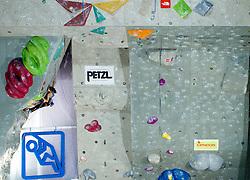 Akiyo Noguchi of Japan during Final IFSC World Cup Competition in sport climbing Kranj 2010, on November 14, 2010 in Arena Zlato polje, Kranj, Slovenia. (Photo By Vid Ponikvar / Sportida.com)