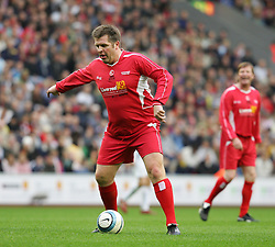 LIVERPOOL, ENGLAND - SUNDAY MARCH 27th 2005: Liverpool Legends' Jan Mølby during the Tsunami Soccer Aid match at Anfield. (Pic by David Rawcliffe/Propaganda)