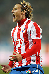 17.01.2011, Estadio Vicente Calderon, Madrid, ESP, Primera Division, Atletico de Madrid vs Mallorca, im Bild Atletico de Madrid's Diego Forlan celebrates during La Liga match. January 17, 2011, EXPA Pictures © 2011, PhotoCredit: EXPA/ Alterphotos/ Alvaro Hernandez