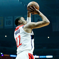 09 December 2017: Washington Wizards forward Otto Porter Jr. (22) takes a jump shot during the LA Clippers 113-112 victory over the Washington Wizards, at the Staples Center, Los Angeles, California, USA.