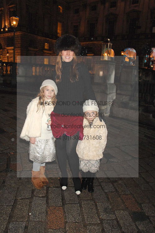 COLETTE VAN DEN THILLART and her daughters, right HAHHAN and right AVA at a Winter Party to celebrate the opening of the Ice Rink at Somerset House, London in association with jewellers Tiffany on 20th November 2007.<br /><br />NON EXCLUSIVE - WORLD RIGHTS