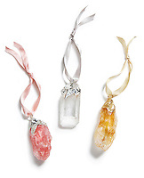 Agate ornaments by ANNA of RabLabs.