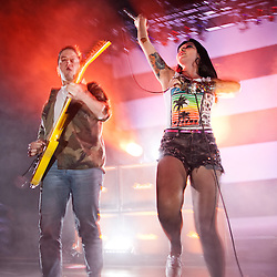 Sleigh Bells perform at The Warfield in San Francisco, CA.  April 5, 2012 @Tom Tomkinson/Retna Ltd.