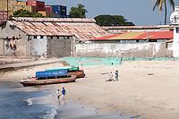 A beach in Stone Town, Zanzibar, Tanzania