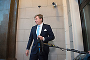Koning Willem Alexander geeft een Riga voorafgaand aan het staatsbezoek aan de Baltische Staten een verklaring na aanleiding van het overleiden van Inés Zorreguieta,  de jongste zus van koningin Máxima.<br /> <br /> King Willem Alexander gives a Riga prior to the state visit to the Baltic States a statement following the inauguration of Inés Zorreguieta, the youngest sister of Queen Máxima.