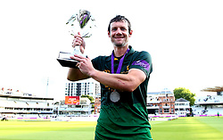 Chris Read of Nottinghamshire celebrates with the Royal London One-Day Cup Trophy after his sides win over Surrey - Mandatory by-line: Robbie Stephenson/JMP - 01/07/2017 - CRICKET - Lord's Cricket Ground - London, United Kingdom - Nottinghamshire v Surrey - Royal London One-Day Cup Final 2017