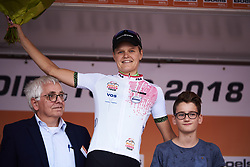 Jeanne Korevaar (NED) leads the youth classification at Boels Ladies Tour 2018 - Stage 3, a 129km road race in Gennep, Netherlands on August 30, 2018. Photo by Sean Robinson/velofocus.com