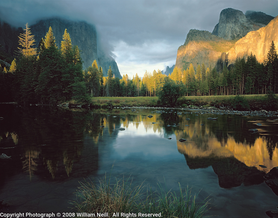 Clearing summer storm, Gates of the Valley, Yosemite Valley, Yosemite National Park, California