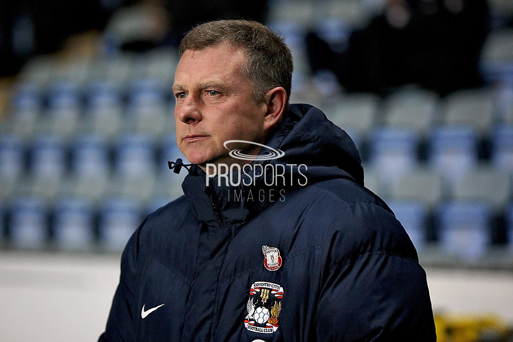 Coventry City Manager Mark Robins  before the EFL Sky Bet League 1 match between Coventry City and Peterborough United at the Ricoh Arena, Coventry, England on 23 November 2018.