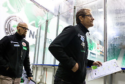 26.09.2014, Hala Tivoli, Ljubljana, SLO, EBEL, HDD Telemach Olimpija Ljubljana vs EC VSV, 5. Runde, in picture Hannu Jarvenpaa, head coach of EC VSV, and Markus Peintner, assistant coach of EC VSV, during the Erste Bank Icehockey League 5. Round between HDD Telemach Olimpija Ljubljana and EC VSV at the Hala Tivoli, Ljubljana, Slovenia on 2014/09/26. Photo by Matic Klansek Velej / Sportida