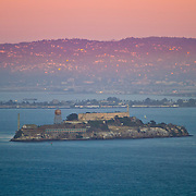 A general overview of Alcatraz Island at sunset from the Marin Headlands in San Francisco, California on Saturday, Sept. 17, 2011. The Golden Gate Bridge is undergoing a re-painting of the main support cables for the first time in 75 years and is expected to be completed by 2015.(AP Photo/Alex Menendez) Golden Gate Bridge in San Francisco, California. Golden Gate Bridge in San Francisco, California.