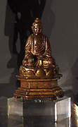 Seated Buddhist figure, gilt bronze, dated 1396.