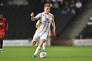 Milton Keynes Dons midfielder Ryan Watson (7) sprints forward with the ball during the EFL Sky Bet League 2 match between Milton Keynes Dons and Grimsby Town FC at stadium:mk, Milton Keynes, England on 21 August 2018.