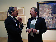 Simon Jenkins and Lord Andrew Lloyd Webber. Stanley Spencer exhibition opening and dinner. Tate Brittain. London. 19 January 2001.  © Copyright Photograph by Dafydd Jones 66 Stockwell Park Rd. London SW9 0DA Tel 020 7733 0108 www.dafjones.com