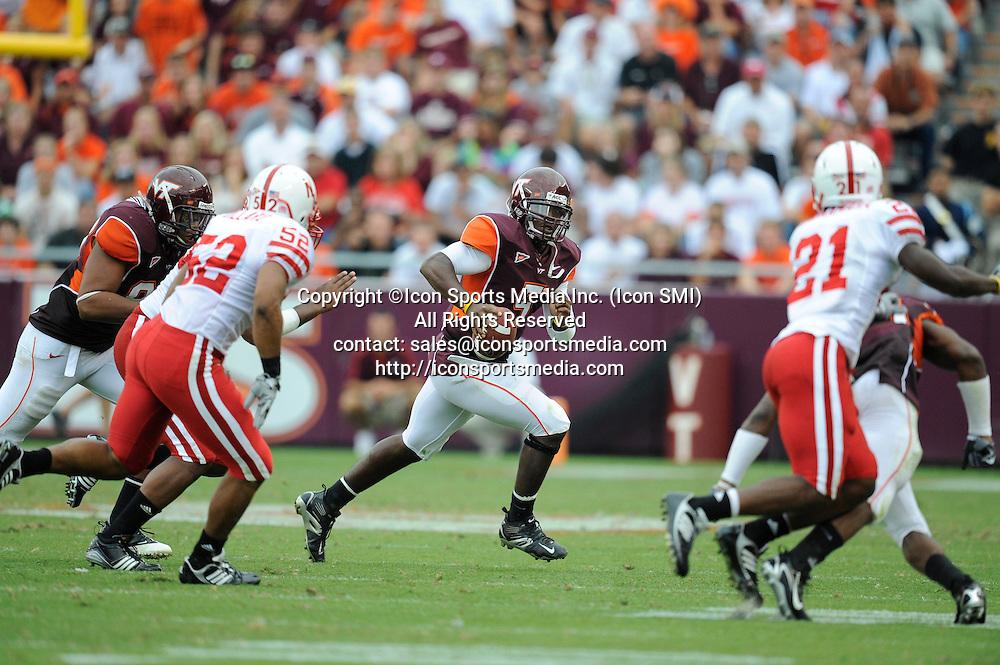 19 September 2009: Virginia Tech quarterback Tyrod Taylor (5) during the Hokies 16-15 win over the Nebraska Huskers at Worsham Field at Lane Stadium in Blacksburg, VA
