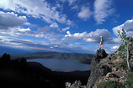 View from Paulina Peak, Newberry National Volcanic Monument Cascade Mountains, Oregon, USA