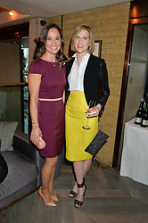 Left to right, PIPPA MIDDLETON and LIZZY PELLY at the 3rd birthday party for Spectator Life magazine hosted by Andrew Neil and Olivia Cole held at the Belgraves Hotel, 20 Chesham Place, London on 31st March 2015.