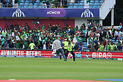 Pitch invasion at the end of the ICC Cricket World Cup 2019 match between Pakistan and Afghanistan at Headingley Stadium, Headingley, United Kingdom on 29 June 2019.