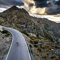 James Brickell riding the infamous Sa Calobra road, Mallorca, Spain.