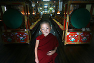 Buddhist monk in a monastry in Nepal