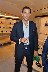 HUGH VAN CUTSEM at a dinner hosted by Tod's to celebrate the refurbishment of their store 2-5 Old Bond Street, London on 15th September 2016.