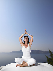 Oct. 10, 2007 - Woman in a yoga session. Model and Property Released (MR&PR) (Credit Image: © Cultura/ZUMAPRESS.com)