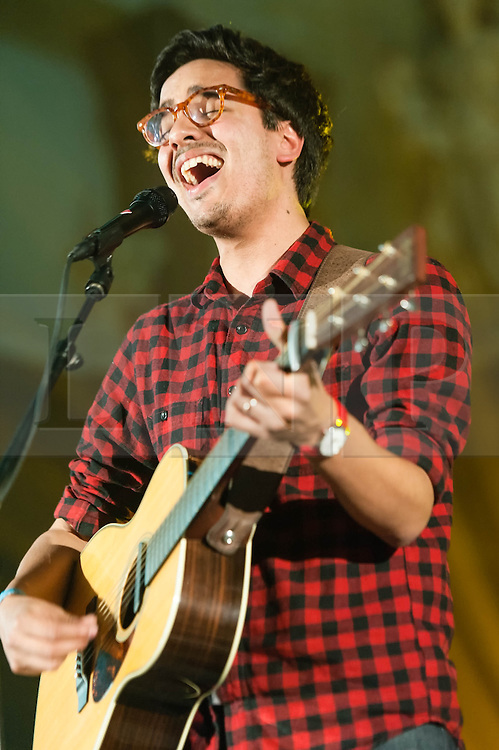 © Licensed to London News Pictures. 05/04/2014. Rotterdam, Netherlands.   Luke Sital-Singh performing live at Motel Mozaique Festival.  Luke Sital-Singh is a British singer-songwriter who was nominated in the BBC Sound of 2014 list.  Motel Mozaïque is an annual music/arts festival, held annually in Rotterdam, Netherlands.  Photo credit : Richard Isaac/LNP