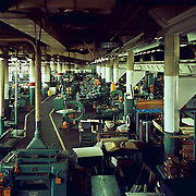 Interior of the Studebaker Corporation's Machine Shop, building #72, c. 1961.
