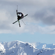 Kai Mahler, Switzerland, in action during the Freeski Slopestyle Men's Final at Snow Park, New Zealand during the Winter Games. Wanaka, New Zealand, 18th August 2011. Photo Tim Clayton