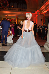Singer HATTY KEANE at the Revlon Choose Love Masquerade Ball held at the V&A Museum, Cromwell Road, London on 21st July 2016.