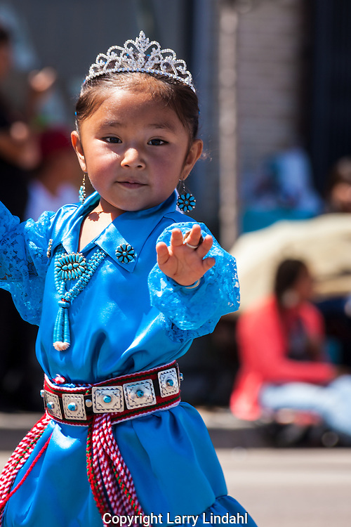 Gallup, Intertribal Ceremonial Parade, New Mexcio, Route 66, 2014-15 Lil' Miss Eastern Navajo, Kyla Bitsie