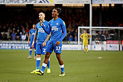 Peterborough United forward Ivan Toney (17) and Peterborough United midfielder Marcus Maddison (21) both rue a missed effort during the EFL Sky Bet League 1 match between Peterborough United and Walsall at London Road, Peterborough, England on 22 December 2018.