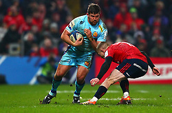 Greg Holmes of Exeter Chiefs in action against Keith Earls of Munster Rugby - Mandatory by-line: Ken Sutton/JMP - 19/01/2019 - RUGBY - Thomond Park - Limerick,  - Munster Rugby v Exeter Chiefs -