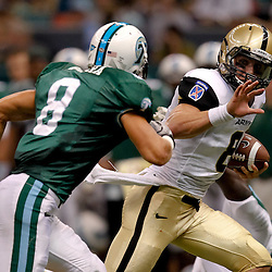October 9, 2010; New Orleans, LA, USA;  Army Black Knights quarterback Trent Steelman (8) breaks away from Tulane Green Wave safety Alex Wacha (8) during the first half at the Louisiana Superdome.  Mandatory Credit: Derick E. Hingle